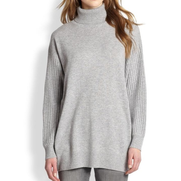 51c9843c7a3 Vince oversized wool cashmere turtleneck sweater. M 5a6e1c8bfcdc31930465137a